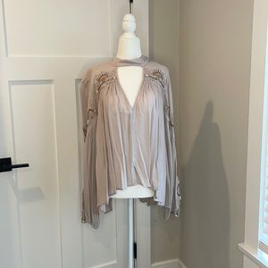 Beautiful Free People Embroidered Blouse small